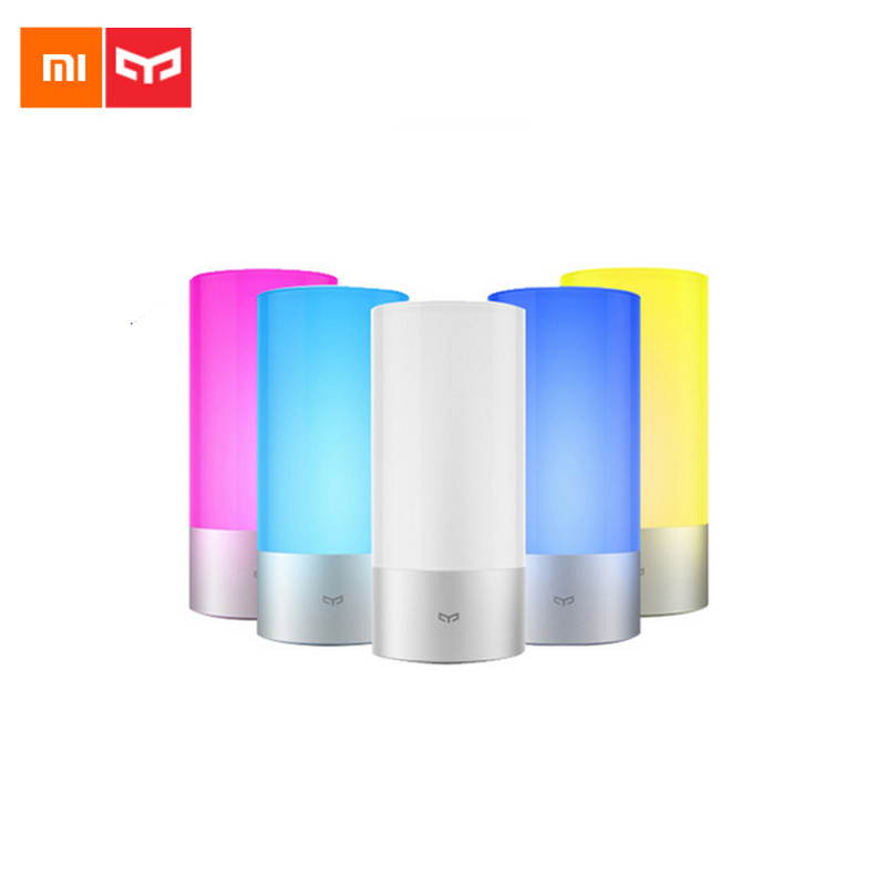 Original Smart Xiaomi Yeelight Bedside Lamp Bluetooth LED Light Touchlight RGBW Touch Control for BT Smart Phone App Control in stock original xiaomi yeelight smart ceiling light lamp remote app wifi bluetooth control smart led colorfull ip60 dustproof