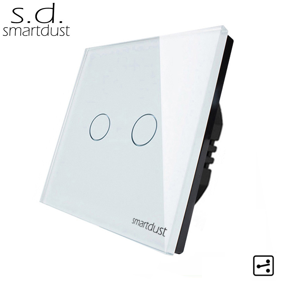 Smartdust Eu Version 2 Gang Two Way Smart Switch Glass