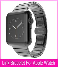 High Quality For HOCO Apple Watch Link Bracelet Band 42mm Gold Silver Stainless Steel Watchbands With
