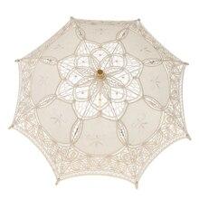 Свадебный кружевной зонтик с цветами, Цветочный зонтик, Свадебный Цветочный декор для девочек, реквизит
