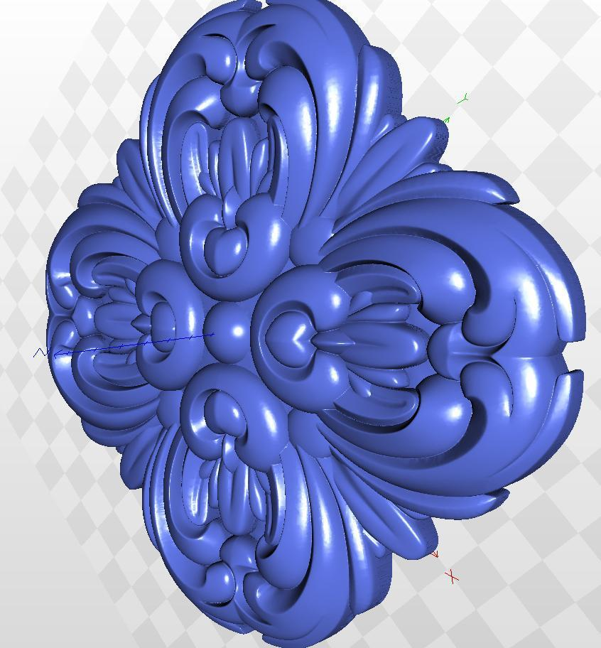 model relief   format 3d for cnc  in STL  file rosette_60 3d model relief format 3d for cnc in stl file rosette 60 3d