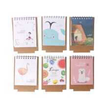 2018 Cartoon Desktop Calendar Mini Animal Flower Design Flip Stand Planner W15