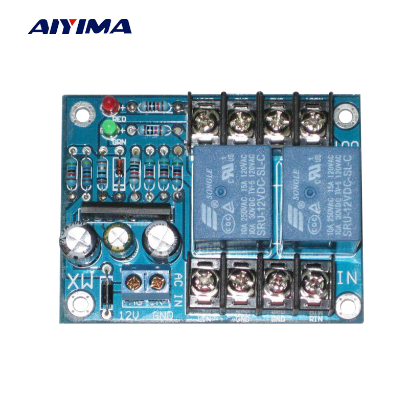 AIYIMA Audio Portable Speakers UPC1237 Dual Channel Speaker Protection Circuit Board Boot Mute Delay DC 12-24V