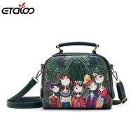 Women S Bag 2017 New Korean Version Of The Tide Printed Handbag Shoulder Bag PU Leather