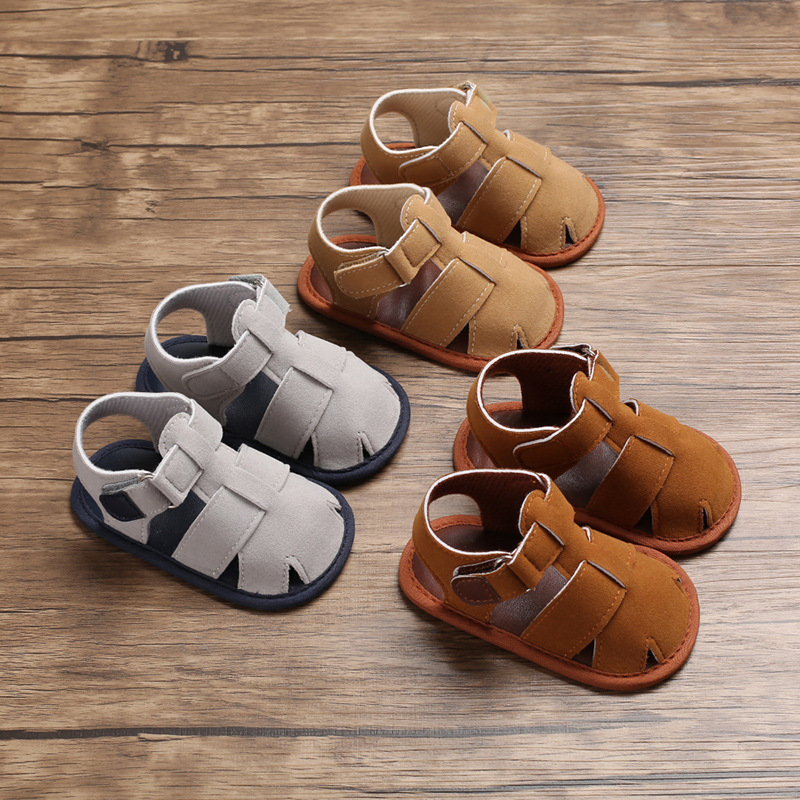 Summer 0-1 Year Old Male Baby Baotou  Non-slip Baby Toddler Shoes