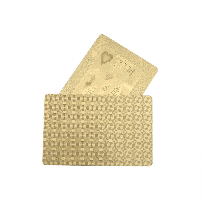 Durable 24K Gold Foil Plated Playing Card Adult Play Game Gold Foil Poker Card