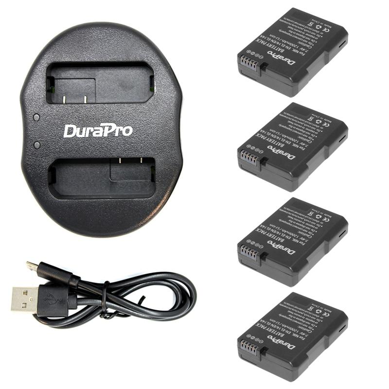 High Capacity 4Pcs EN-EL14 EN-EL14a Battery + USB Dual Charger for Nikon COOLPIX P7000 D3100 D5100 D5200 P7100 P7700 P7800 D3200 сумка для видеокамеры nikon coolpix p7700