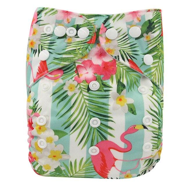 7d7cf0326c4c Ohbabyka bebé pañales cubierta Flamingo impresión Lavable pañal de bolsillo  Couche Lavable reutilizable pañales un tamaño