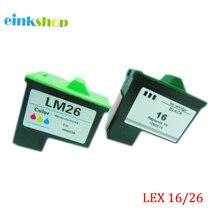 For Lexmark 16 26 Ink Cartridge for Lexmark Z615 X1100 X1150 X2250 X75 X1200 X1290 Z612 Z614 Z615 I3 Z13 Z23 Z25 Z35 Z515 Z517