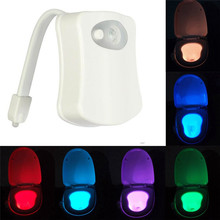 ФОТО 8 colors led night light toilet seat smart motion sensor night light waterproof backlight  led lamp for toilet bowl bathroom