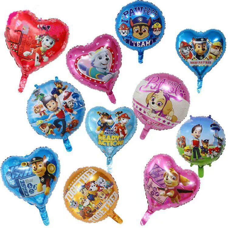 PAW Patrol Balloons Birthday Party Decorations Chase Skye Rubble Helium Foil Balloon Event Party Supplies 7pcs