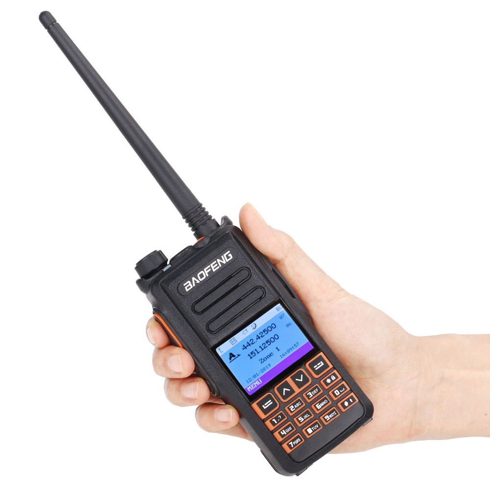 Baofeng DM-X Digital Walkie Talkie GPS Record Tier 1&2 Dual Band Dual Time Slot DMR Digital/Analog Upgrade DM-1801 DM-1701 1702