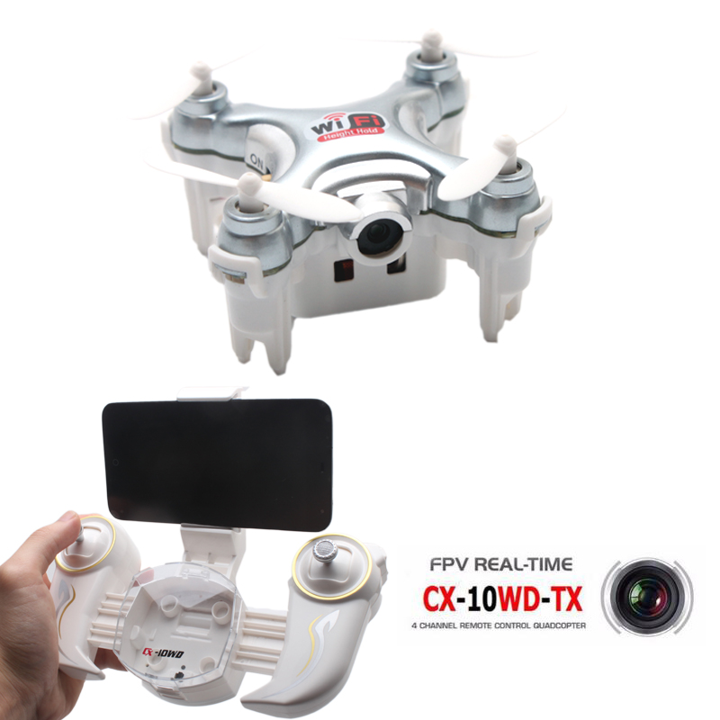 Cheerson CX-10WD-TX Mini Dron Quadrocopter with FPV Camera HD Pocket Drone Wifi Hight Hold Mode 2.4G 6-axis RC Quadcopter Copter mjx x906t mini rc drone 6 axis gyro quadrocopter rc fpv drone helicopter hd camera wifi mando remote control copter toy