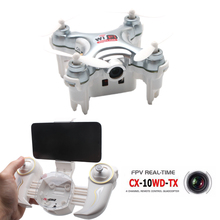 Cheerson CX-10WD-TX Mini Dron Quadrocopter with FPV Camera HD Pocket Drone Wifi Hight Hold Mode 2.4G 6-axis RC Quadcopter Copter