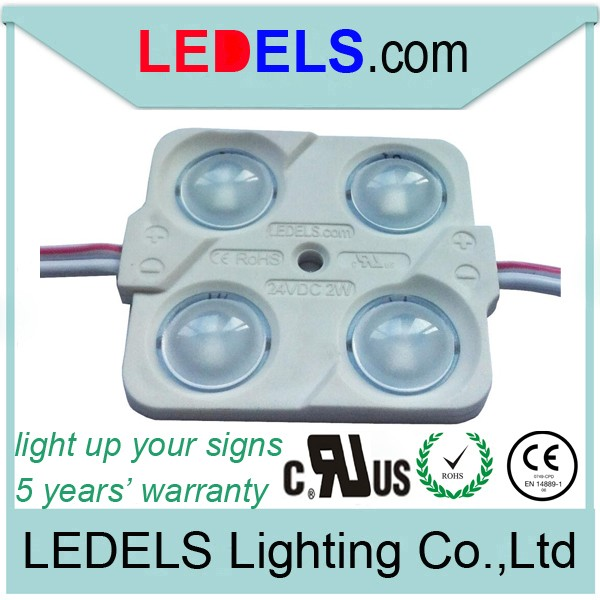500pcs / Lot UL LISTED <font><b>4</b></font> <font><b>LEDs</b></font> <font><b>Modules</b></font> with Everlight 2835 <font><b>LED</b></font>,24V 2W Injection <font><b>Modules</b></font> <font><b>LED</b></font> for light box illuminated signs image