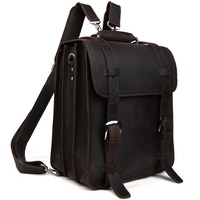 Outdoor Camping Men S Genuine Leather Backpack Hiking Travel Bag TIDING 1111