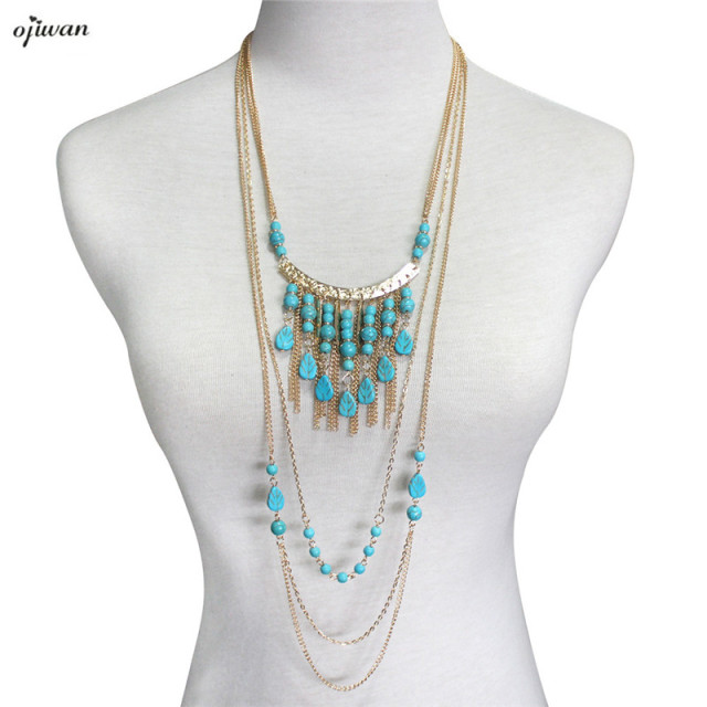canyon front pin strand necklace turk multi indian trina