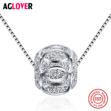 New 2018 Trendy Fashion Short Chain 925 Sterling Silver 8*9mm Bead Necklaces for Women Hot Sell Jewelry Gift