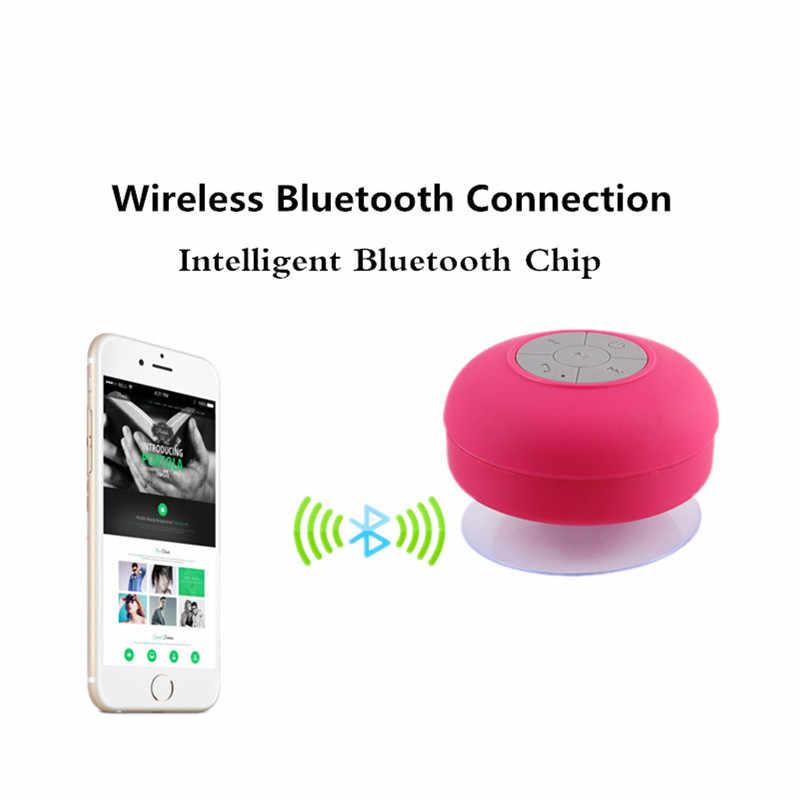 Горячие Портативный сабвуфер Водонепроницаемый душ Динамик Беспроводной Bluetooth гарнитура получите вызов Музыка всасывания микрофоном для iPhone Samsung