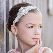 1 предмет, в розницу, для детей 12 видов цветов детские повязки на голову для девочек с цветами из стразов; с элегантные повязки для головы Детские аксессуары по уходу за волосами