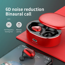 T50 TWS Bluetooth Earphone Mini Noise Reduction Gaming Wireless Headphones 6D Stereo Headset Hand-free Sport Earbuds(China)