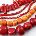 "8string/lot 15"" red Nature coral beads loose coral flat round beads semi-precious stone beads For DIY Jewelry Bead 9-20mm K01816"