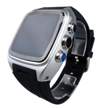 """Heißer verkauf! Smart Watch X01 Telefon MTK6572 1,54 """"Dual Core ROM 4G WIFI GPS 3G Smartwatch Android4.4 sim-karte WCDMA Wasserdicht G-sen"""