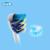 Braun oral b cepillo de dientes eléctrico cabeza reemplazable cabeza del cepillo de dientes de limpieza profunda para d12013/d16523 4 cabezas/paquete eb30/17/18/20/25/50
