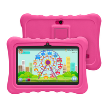Hot Sale!!Yuntab 7 inch Android4.4 kid Tablet PC load Iwawa kid software with 3D-Game ,educational tablet for children(rose red)
