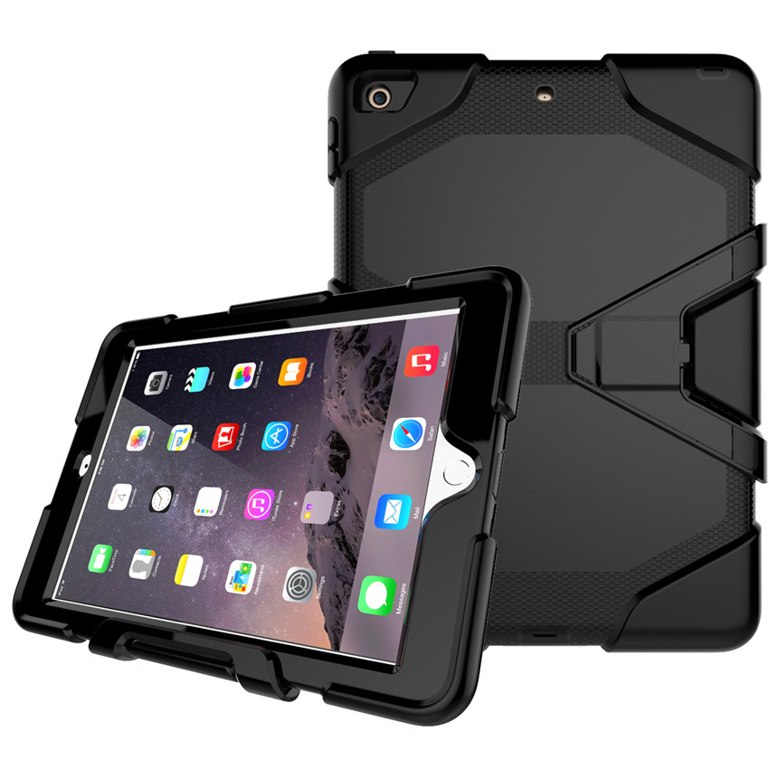 For Apple iPad 9.7 2017 Case Kids Silicone Safe Armor Shockproof Tablet Hard Back cover For New iPad 9.7 2017 A1822 A1823 for ipad mini4 cover high quality soft tpu rubber back case for ipad mini 4 silicone back cover semi transparent case shell skin