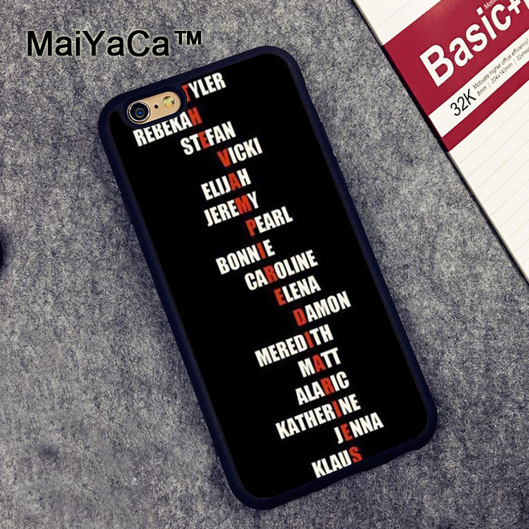 MaiYaCa The Vampire Diaries Printed Soft Rubber Mobile Phone Case OEM For iPhone 6 6S Pl ...