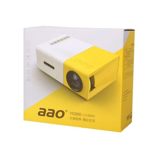 DVDs YG300 Mini Proyector LED Cinema Teatro HDMI AV USB Reproductor Multimedia de Tu Hogar