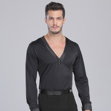 Men's Latin Dance Top Shirt For Ballroom Salsa Tango Dancing Leisure Practice Costumes 2015 New Arrival Breathable Fabric
