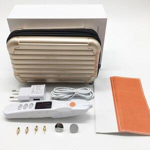 Image 5 - Bolígrafo de plasma láser removedor de puntos lunares verrugas Freckles máquina de tatuaje belleza reafirmante DE LA PIEL eliminación de arrugas pluma de elevación de párpados