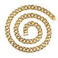 NYUK Новая Мода Позолоченные Bling Rhineston CZ Камень мужская ожерелье Хип-Хоп Очарование Мужчины Ювелирные Изделия Упаковка С Красивыми Подарками коробка