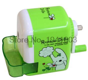 New gifts 0629 children plastic sharpeners machine cutter for colored pencils deli brand office supplies stationery accessories new arrival deli sweet house children pencil sharpeners 0724 cute cartoon students mechanical pencils writing supplies blue