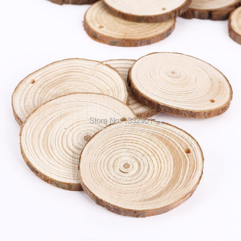 25 round wooden wood log slice natural tree bark table decor 25 round wooden wood log slice natural tree bark table decor wedding centerpiece in festive party supplies from home garden on aliexpress alibaba junglespirit Gallery