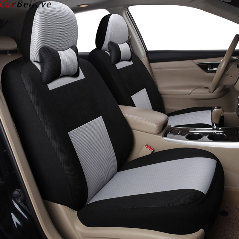 Car Believe 2 PCS car seat cover For nissan qashqai j10 almera n16 note x trail t31 juke leaf teana cover for vehicle seats