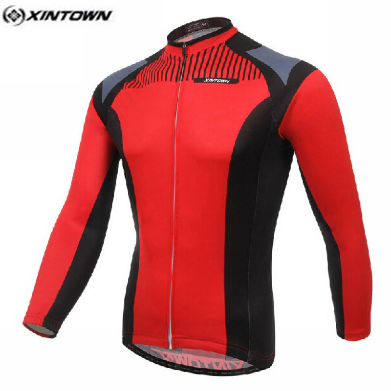 XINTOWN Pro Bike Long jersey Male MTB Team Cycling clothing Red Riding Top Wear Men Maillot Long Sleeve Shirts Ropa Ciclismo