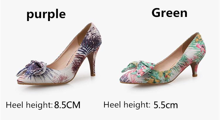 74ae4f5887 Jiabaisi shoes Women pumps Pointed toe Jacquard Fabric Bowknot pumps ...