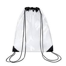 Nouveau sac à dos à cordon Transparent sac à dos sac fourre-tout scolaire sac de Sport