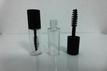 200pcs 3ml plastic PETG small clear Empty Mascara Tube Vial Bottle Container with Black Cap for