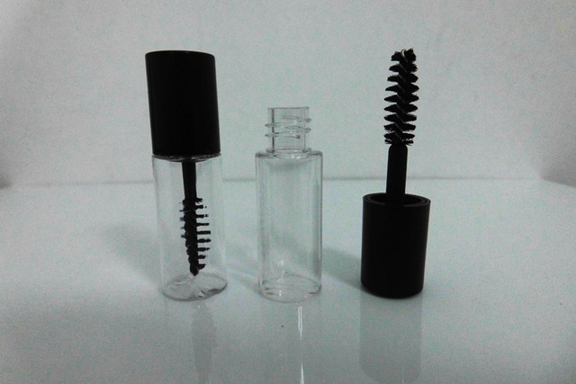 58ec845bb52 200pcs 3ml plastic PETG small clear Empty Mascara Tube Vial/Bottle/Container  with Black