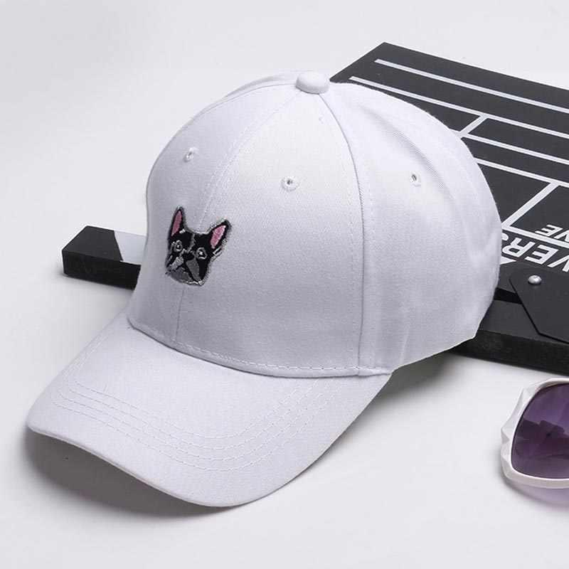 af02516fac8 2018 New Arrival Gorras Korea Ulzzang Harajuku Cute Puppy Snapback Hats  Embroidery Baseball Cap For Men
