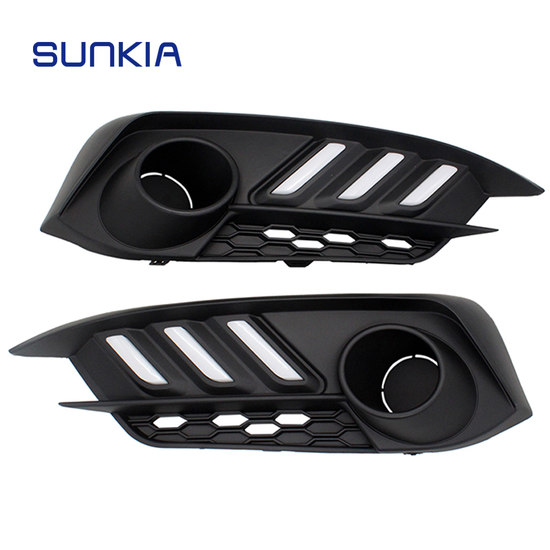 2Pcs/Set SUNKIA Car LED Daytime Running Light DRL for Honda Civic 10th 2016 2017 2018 Day Light Car Styling Free Shipping