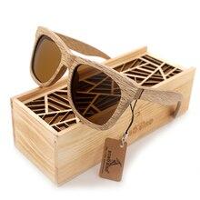 بوبو الطيور النظارات الشمسية النساء الرجال 2020 اليدوية الطبيعة خشبية نظارات إطار الاستقطاب النظارات الإبداعية صندوق هدية خشبي Oculos دي سول