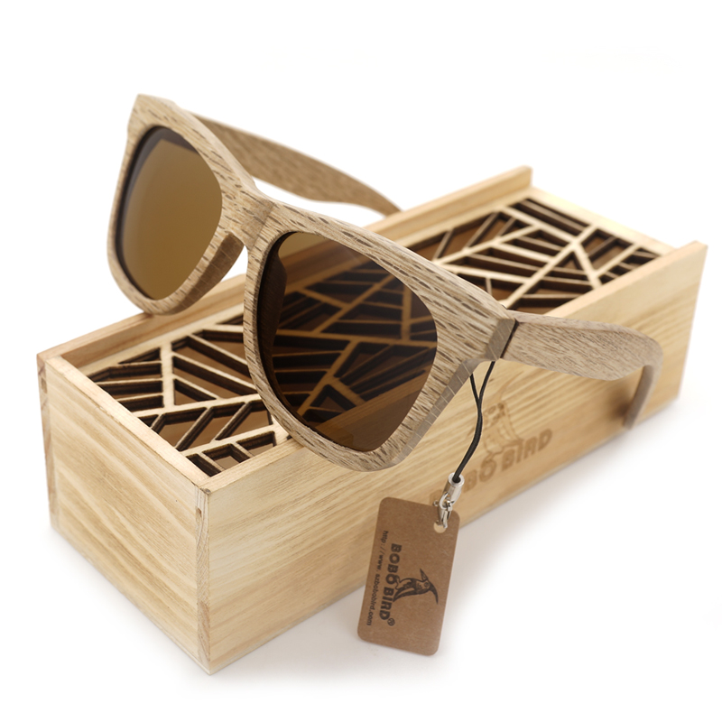 BOBO BIRD Sunglasses Women Men Handmade Nature Wooden Polarized Sunglasses New  With Creative Wooden Gift Box AG007