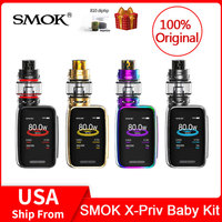 Original SMOK X Priv Baby Kit 80W + built in 2300mAh Battery+V12 Big Baby Prince Tank 6ml electronic cigarette X PRIV baby vape