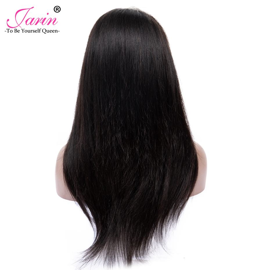 Jarin Hair 360 Lace Frontal Wig Peruvian Straight Lace Front Human Hair Wigs Pre Prucked Hairline
