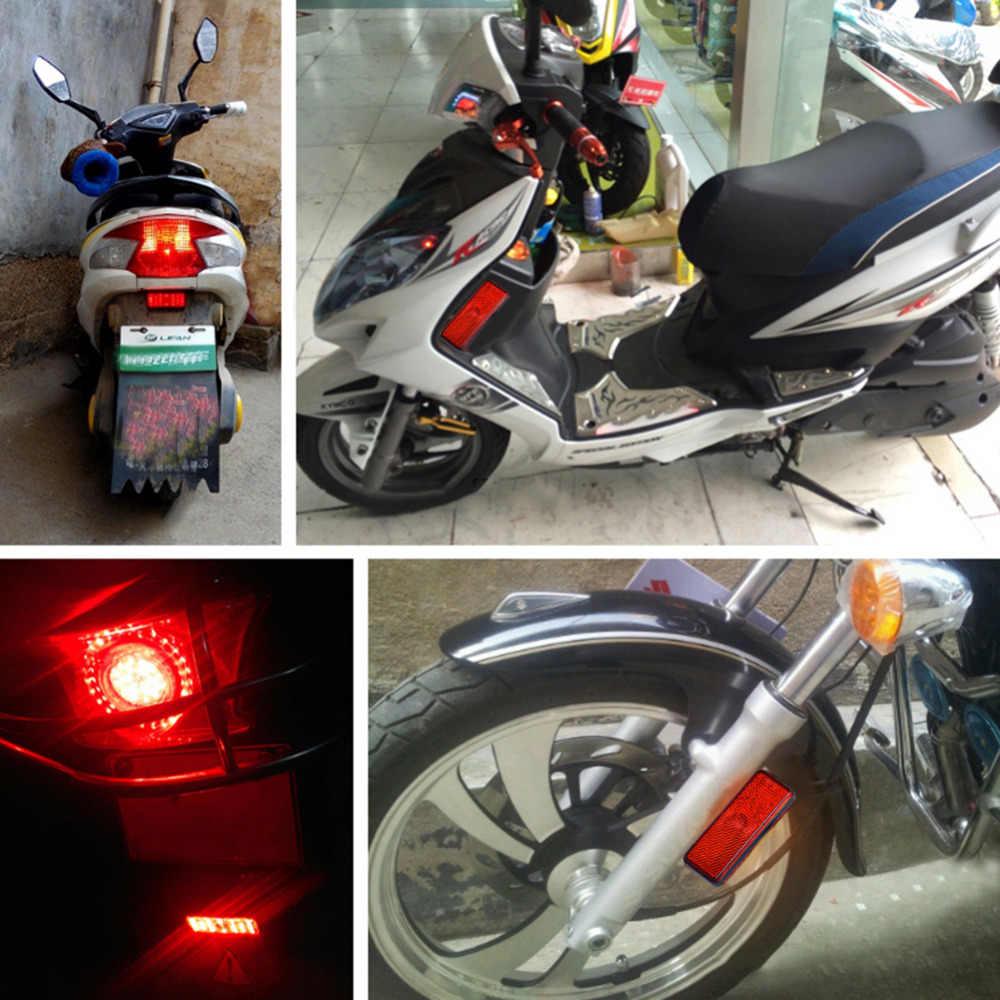 Uniwersalny 24 LED motocykl ATV tylne światła tylne Turn Signal hamowania Stop do biegania płyta oznaczone znakiem E 12 V dla honda/Yamaha